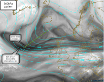watervapour sat pic with 300mb overlay