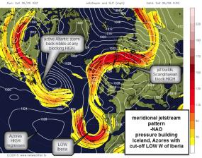 meridional jet blocks up Atlantic?