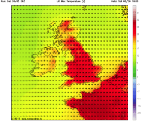 brief heat spike next weekend