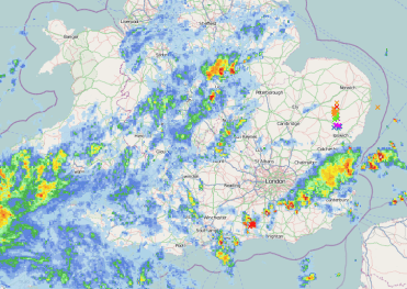 some showers and tstorms Kent