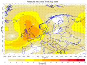 August southerly jetstream flow