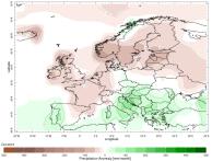 Europe rainfall anomaly October 2015