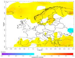 Europe October average temperature