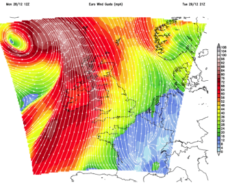 Gales mainly out west