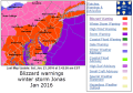 Blizzard warnings NWS