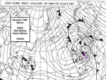 October 1987 storm chart
