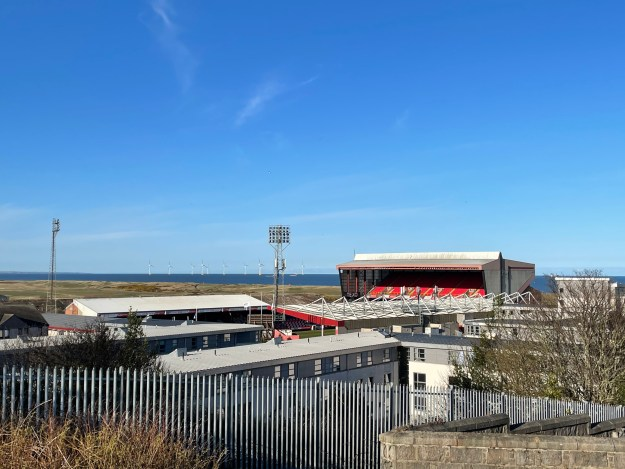 A picture of the Aberdeen Pittodrie Stadium.