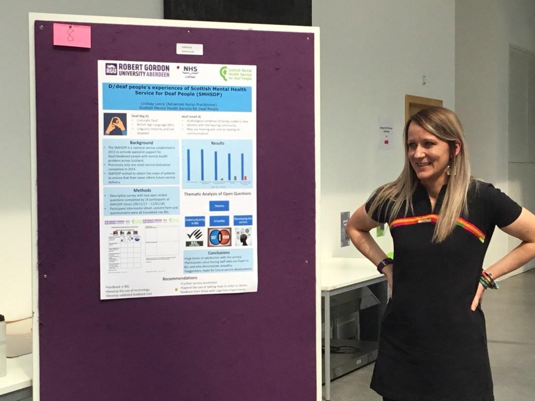 Lindsay presenting her work at MSc Advancing Practice