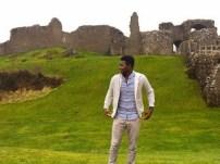 in front iof castle