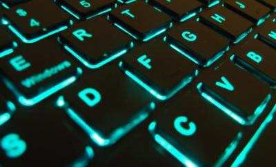 back lit keyboard such as used for working with cyber security