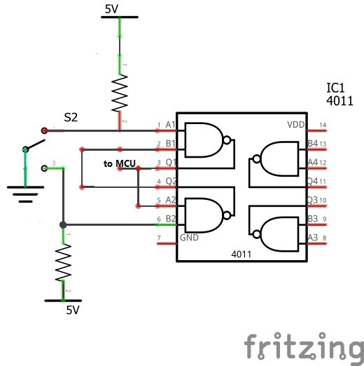 rudimentary switch debouncing circuit