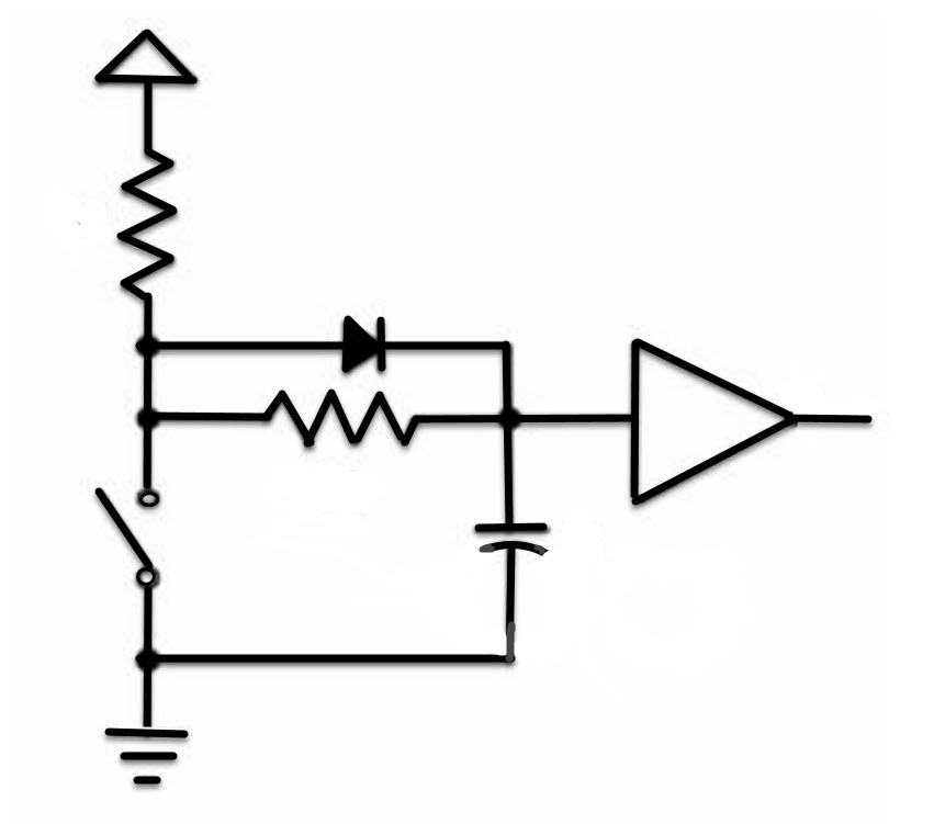 Debouncing switches in hardware and software