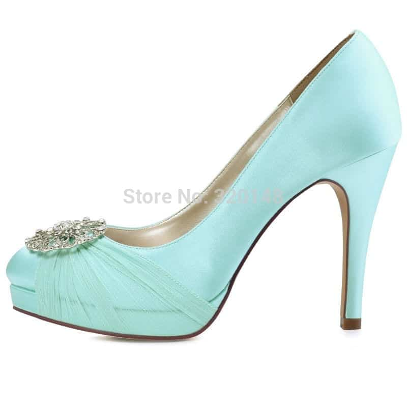 Mint high heel bridal wedding shoes prom party pumps ivory white mint high heel bridal wedding shoes prom party pumps ivory white navy blue junglespirit Choice Image