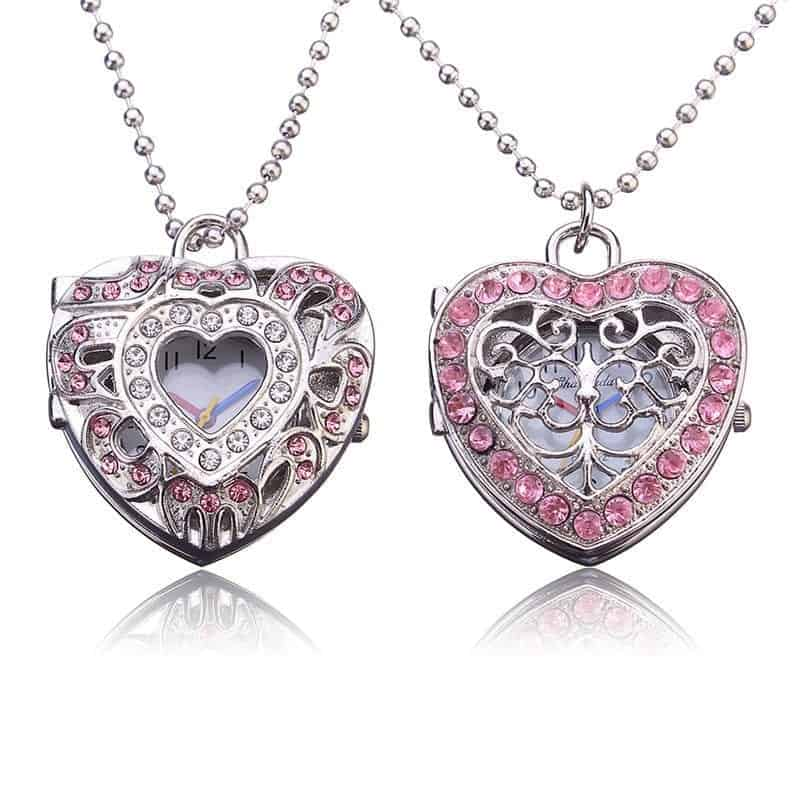 New pink heart shape pendant necklace rhalyns new pink heart shape pendant necklace aloadofball Gallery