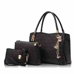New  3 Pcs Set Leather Casual Handbag