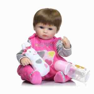 Silicone Reborn Baby Doll kids Playmate For Girls 16″