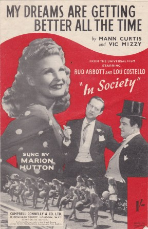 Vintage sheet music cover My Dreams are Getting Better All the TIme