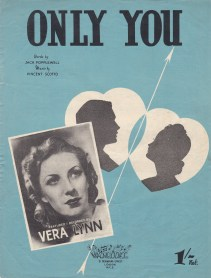 Vintage sheet music cover Only You