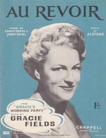 Au Revoir (Gracie Fields) Vintage sheet music cover
