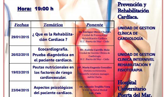 Cartel conferencias Rehabilitación Cardiaca en jpg