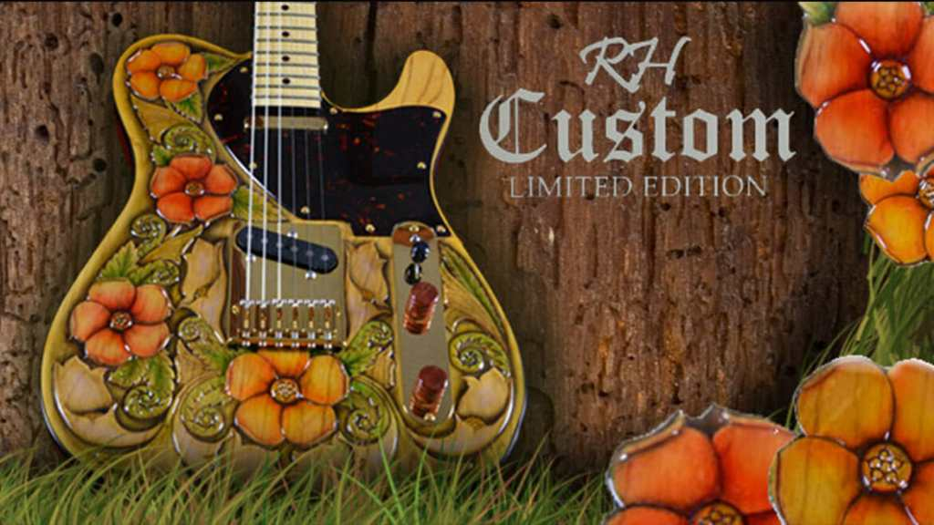 RH Custom Guitars and George Amicay Collaboration: Floral Perfection