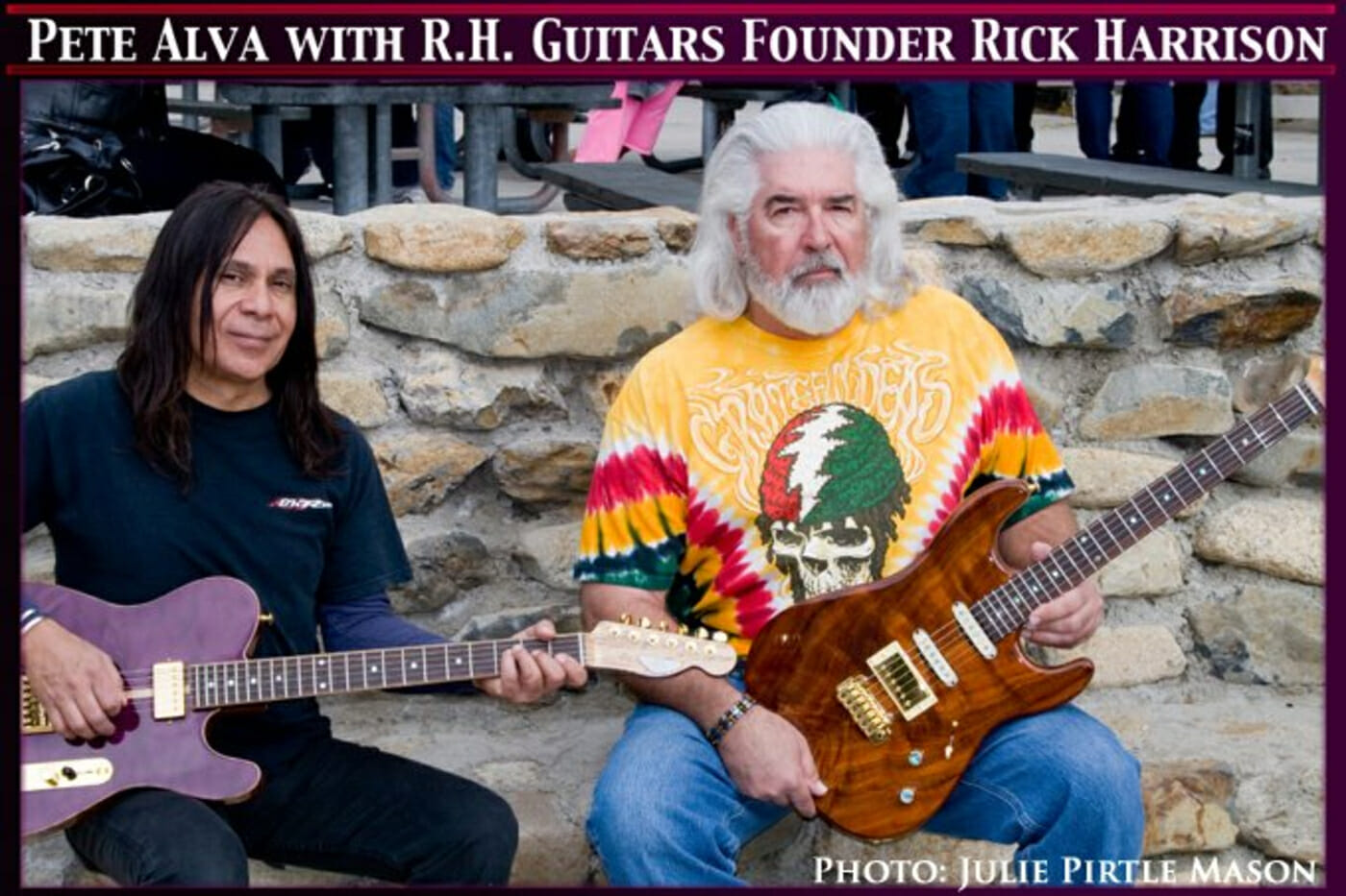 Pete Alva with RH Custom Guitars Founder Rick Harrison