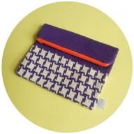 c - Purple and Orange - Hounds tooth2