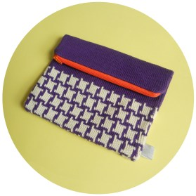 c - Purple and Orange - Hounds tooth2