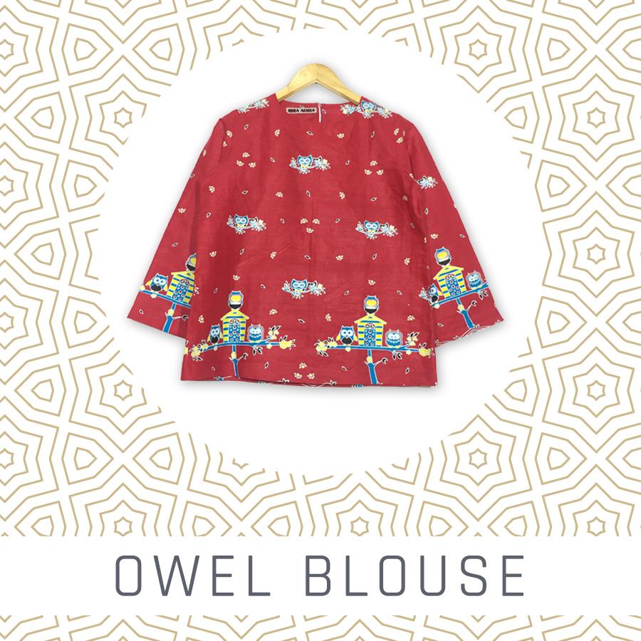 Atasan Blouse Batik Wanita Owel Blouse