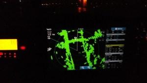 Hammer Eisenbahnbrücke auf dem Radarbildschirm