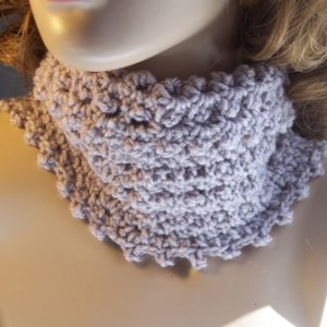 Picot Cowl and Arm Warmer