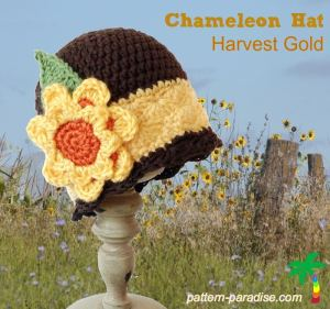 Chameleon Hat - Harvest Gold by Pattern Paradise