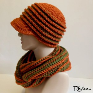 Fallin' Back Hat by CrochetN'Crafts
