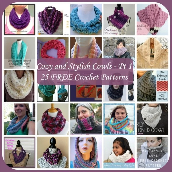 Cozy and Stylish Cowls ~ 25 FREE Crochet Patterns - Part 1