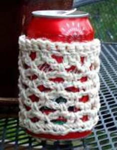 Eco-friendly Crocheted Drink Sleeve/Cozy by Lisa Jelle's Ravelry Store