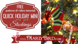 Quick Holiday Mini Stocking by Marly Bird