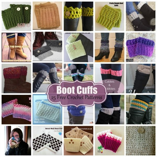 Crochet Boot Cuffs ~ 25 FREE Crochet Patterns - Rhelena\'s Crochet Blog