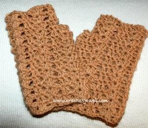 Shell Fingerless Gloves by Crochet Jewel