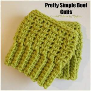 Pretty Simple Boot Cuffs by CrochetN'Crafts