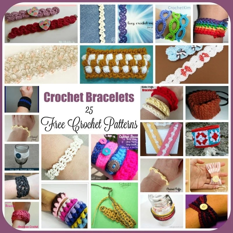Crochet Bracelets 25 Free Crochet Patterns Rhelenas Crochet Blog