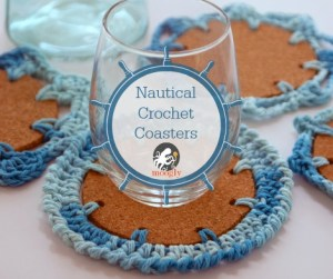 Nautical Crochet Coasters by Moogly