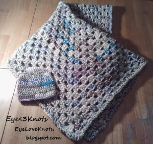 Summery Granny Square Baby Blanket by EyeLoveKnots