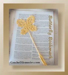 Butterfly Bookmark by Crochet Memories