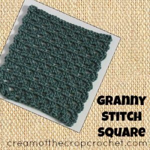 Granny Stitch Square by Cream Of The Crop Crochet