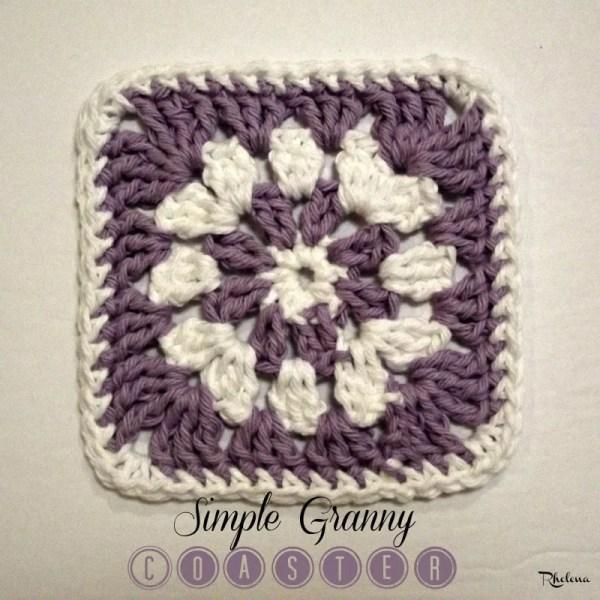 Simple Granny Coaster ~ FREE Crochet Pattern