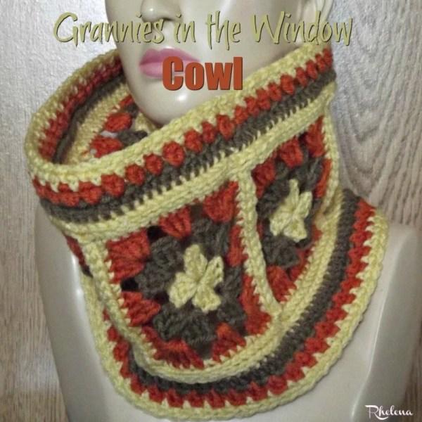 Grannies in the Windows Cowl ~ FREE Crochet Pattern