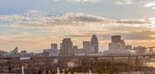 Louisville Skyline at Dusk