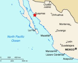 Location of Guaymas