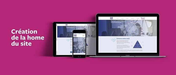 L'agence Rhetorike a réalisé une home page correspondant à la dimension internationale d'Activeo.