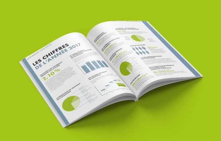 Mettre en page un rapport annuel implique de manipuler beaucoup de chiffres, d'où l'intérêt de les mettre en scène au moyen d'infographies